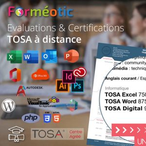 Coupon de certification TOSA Digital® en e-surveillance