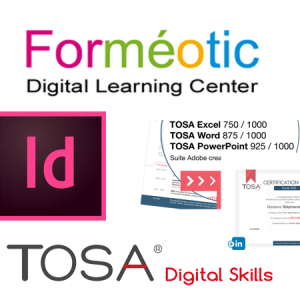 Evaluation et Certification TOSA Indesign à distance