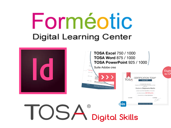 certification TOSA Indesign par Formeotic