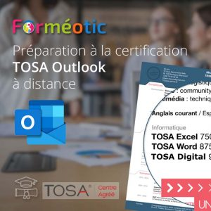 Pass complet certifiant TOSA® Outlook certifiant à distance