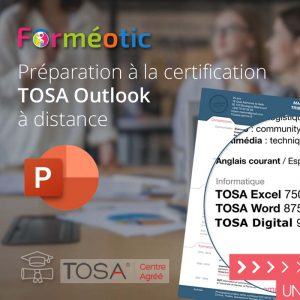 Pass complet certifiant TOSA® PowerPoint à distance