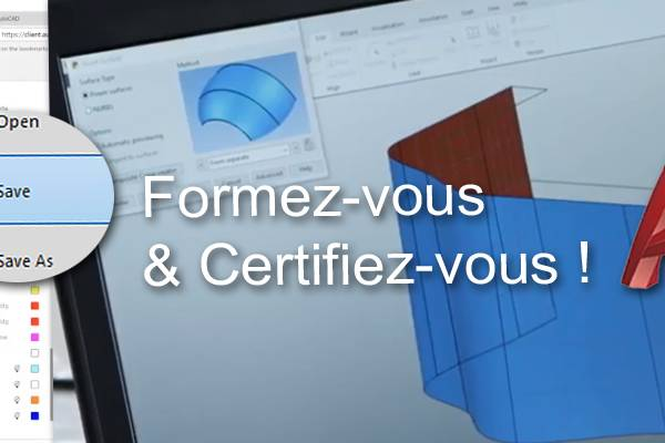 Formation et  certification TOSA Autocad 2020 à distance