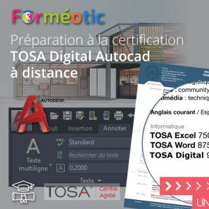 Pass complet certifiant TOSA Autocad 2020