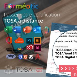 Certifications TOSA à distance